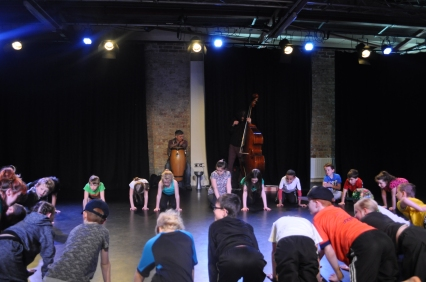 Pupils from local primary schools taking part at Echo Echo Studios (image by Barry Davis)